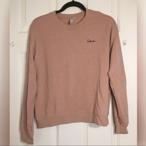"Pink ""love"" sweatshirt"